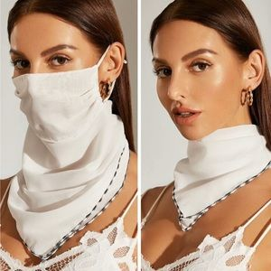 LAST 1! White Scarf Face Mask